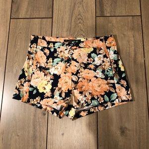 Zara floral print shorts
